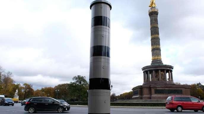 Blitzanlage am Großen Stern in Berlin.