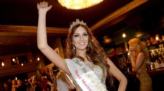 Miss Moskau Oksana Woewodina im November 2015 in Moskau.