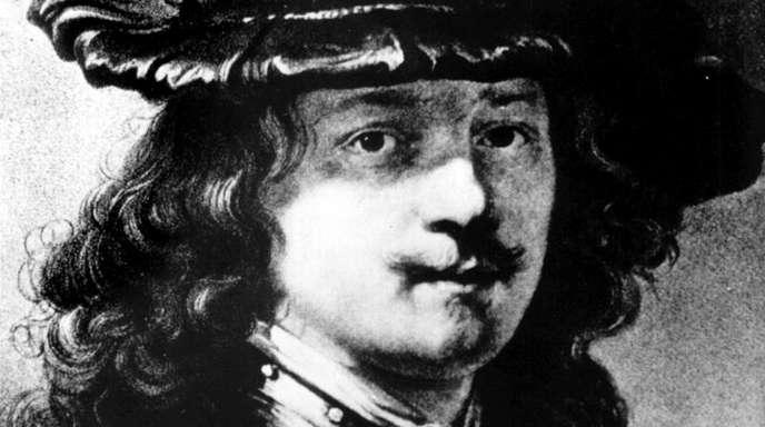 Selbstporträt des niederländischen Malers, Zeichners und Radierers Rembrandt Harmensz van Rijn (undatierte Aufnahme).