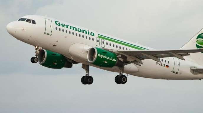Die Germania betreibt 37 Mittelstreckenjets und ist neben Linienflügen auch für viele Reiseveranstalter unterwegs.