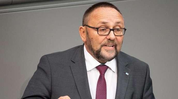 Der AfD-Politiker Frank Magnitz Ende September bei einer Rede im Bundestag.