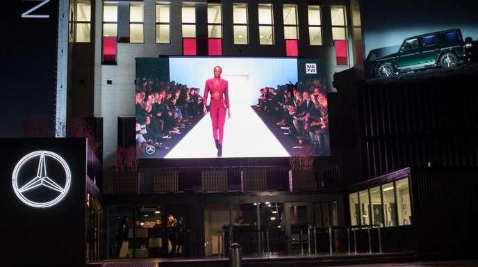 Blick auf das E-Werk während der Berlin Fashion Week (2018).