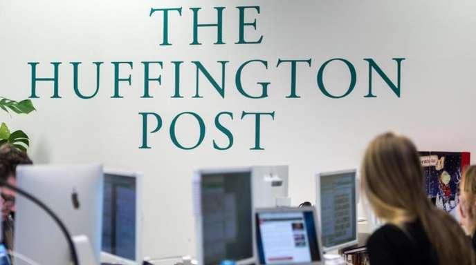 Mitarbeiter der «Huffington Post», die später «HuffPost» hieß, in den Redaktionsräumen des Publishers BurdaForward.