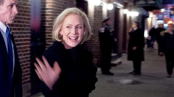 Kirsten Gillibrand, New Yorker Senatorin, nach einem Auftritt in der «The Late Show with Stephen Colbert».