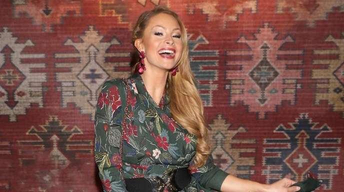 Jana Julie Kilka auf der Fashion Week in Berlin.