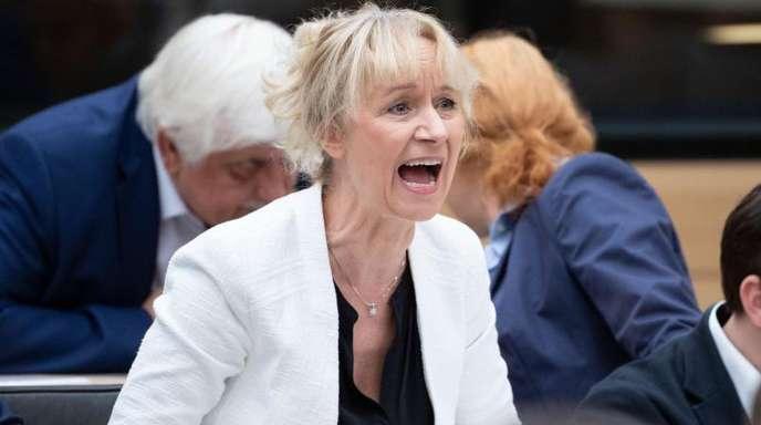 Die AfD-Abgeordnete Christina Baum im November 2018 im Landtag von Baden-Württemberg.
