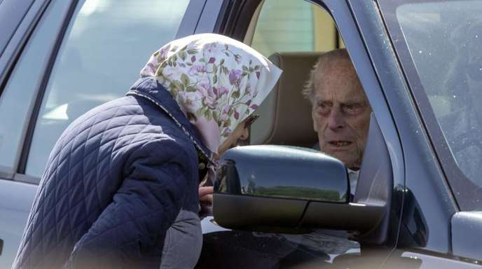 Die britische Königin Elizabeth II. mit ihrem Ehemann Prinz Philip, Herzog von Edinburgh.