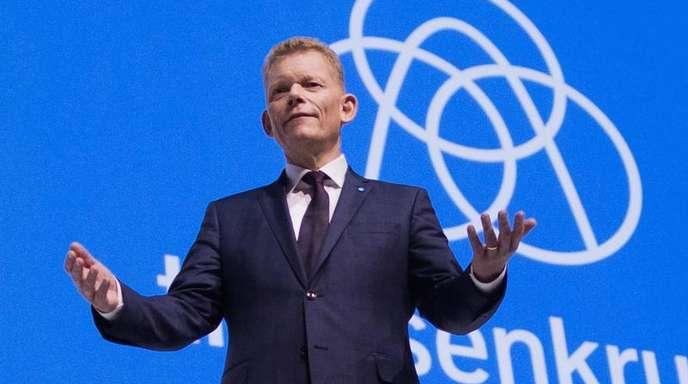 Guido Kerkhoff, Vorstandsvorsitzender von Thyssenkrupp. Im ersten Quartal hat der Stahl- und Industriekonzern im operativen Geschäft weniger verdient.