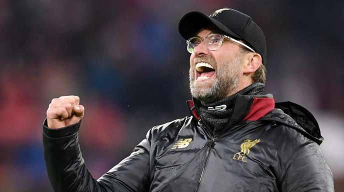 Liverpool-Trainer Jürgen Klopp jubelt nach dem Sieg beim FCBayern.