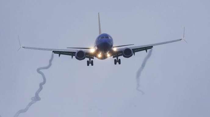 Eine Boeing 737 Max 8 der Southwest Airlines im Landeanflug auf den Hobby Airport. Das Flugzeug war bereits in der Luft auf dem Weg nach Houston, als ein Startverbot für alle Flugzeuge der 737-Max-Reihe erlassen wurde.