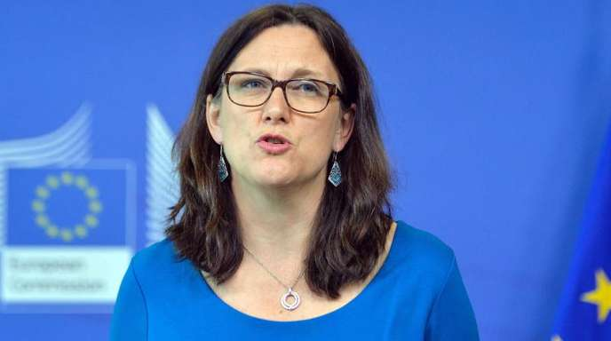 EU-Handelskommissarin Cecilia Malmström betonte, dass die neuen Sonderzölle nur dann eingeführt werden sollen, wenn sich der Subventionsstreit mit den USA nicht durch Verhandlungen lösen lässt.