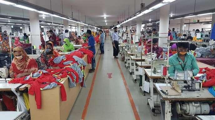 Textilfabrik in Savar in Bangladesch.