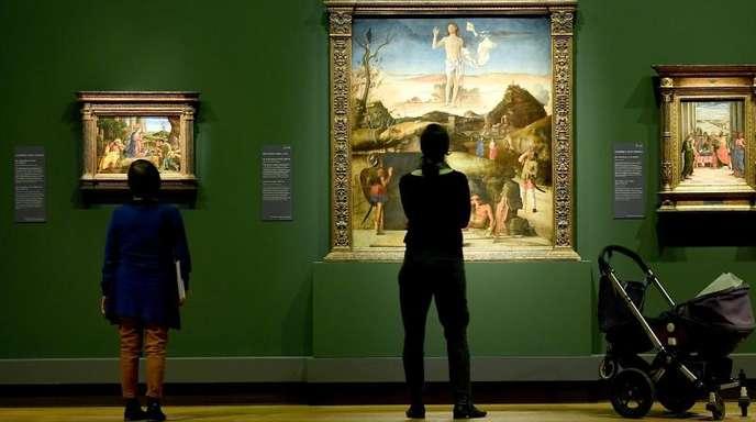Blick in die Ausstellung «Mantegna und Bellini. Meister der Renaissance».