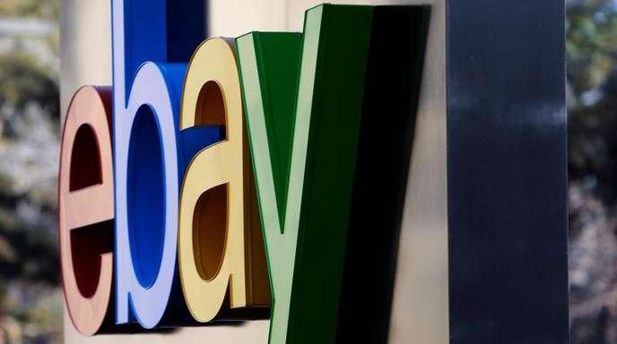 Das Ebay-Logo vor der Zentrale des Konzerns im kalifornischen San Jose.