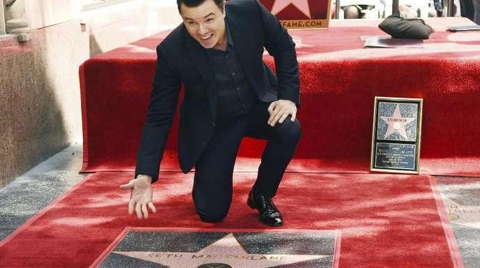 Seht her, mein Stern: Seth MacFarlane auf dem Hollywood «Walk of Fame».