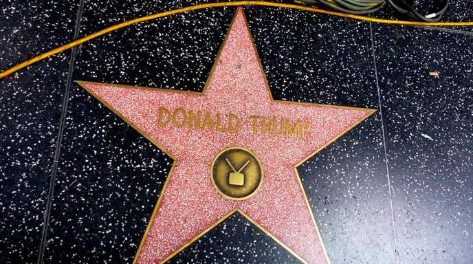 Donald Trumps Stern auf dem Hollywood Walk of Fame.