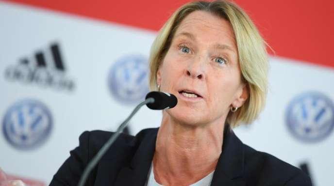 Bangt um ihre Stammtorhüterin: Frauen-Bundestrainerin Martina Voss-Tecklenburg.