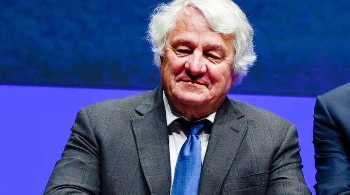 Hasso Plattner, Aufsichtsratsvorsitzender des Softwarekonzerns SAP, bei der Hauptversammlung des Konzerns in Mannheim.