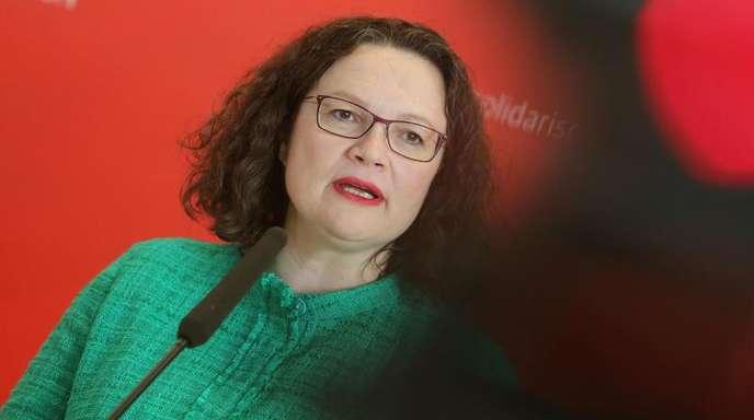 Andrea Nahles ist Partei- und Fraktionschefin der Sozialdemokraten.