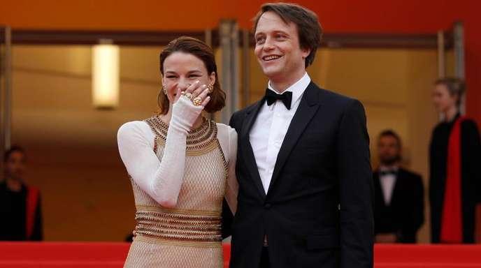 August Diehl und Valerie Pachner vor der Premiere ihres Films «A Hidden Life» in Cannes.