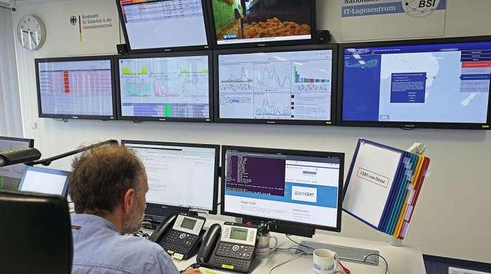 Nationales IT-Lagezentrum des Bundesamtes für Sicherheit in der Informationstechnik (BSI).