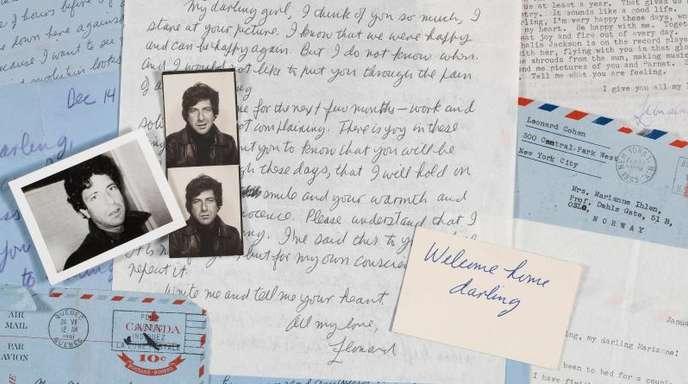 Briefe von Leonard Cohen an Marianne Ihlen.