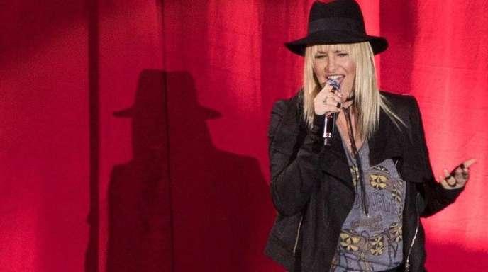 Sarah Connor bei einem Konzert in der Mercedes-Benz-Arena in Berlin.