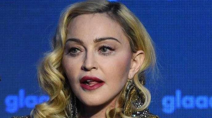 Madonna ist wütend und aufgebracht.