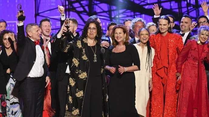 Die Darsteller des Musicals «Hadestown» jubelten bei den Tony Awards in der Radio City Music Hall.