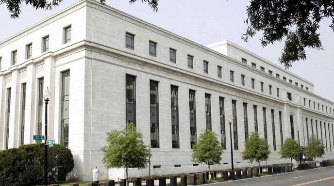 Unter Druck von Trump: Die US-amerikanische Notenbank Federal Reserve (Fed) in Washington.