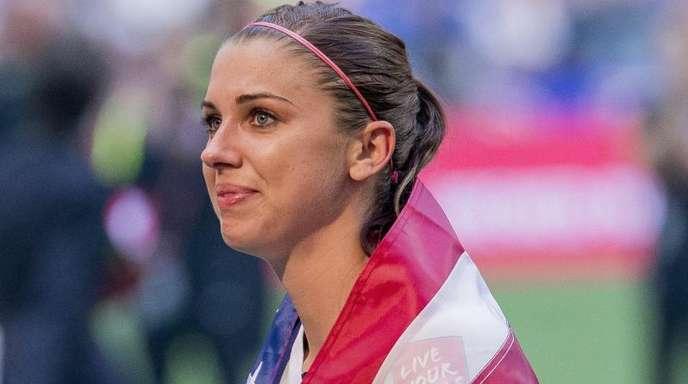 Alex Morgan erzielte beim 13:0 der US-Frauen gegen Thailand fünf Tore. Foto (Archiv): Bob Frid/EPA