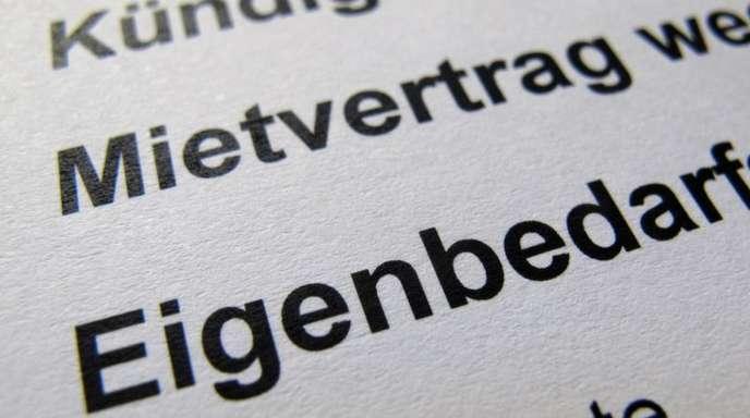 In Deutschland wehren sich nachEinschätzung des Mieterbundes mehr Menschen vor Gericht gegen Eigenbedarfs-Kündigungen.