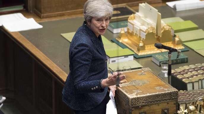 Theresa May, britische Premierministerin, spricht im Unterhaus. Die Abgeordneten debattierten über denAustritt Großbritanniens aus der EU.