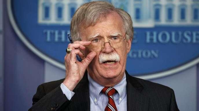 US-Sicherheitsberater John Bolton im Weißen Haus.