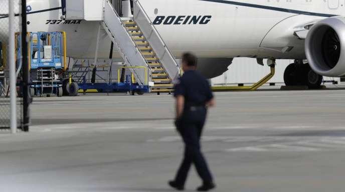 Eine Boeing 737 Max 8 steht auf dem Werksgelände des amerikanischen Flugzeugbauers in Seattle. IAG will gleich 200 Max-Jets kaufen.