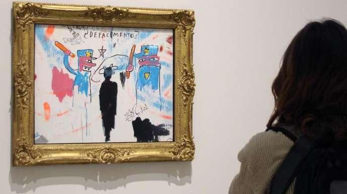 «The Death of Michael Stewart»von Jean-Michel Basquiat im New Yorker Guggenheim-Museum.
