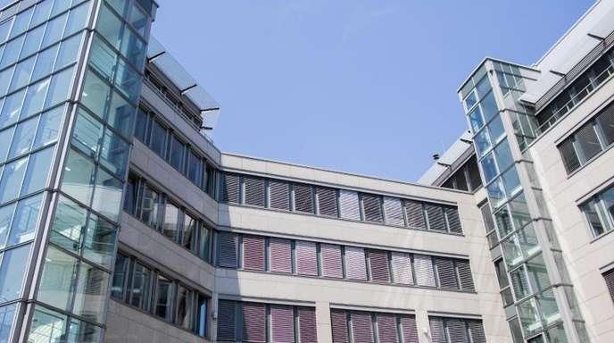 Blick auf das Bürogebäude, in dem die Landesparteizentrale der AfD Nordrhein-Westfalen untergebracht ist.