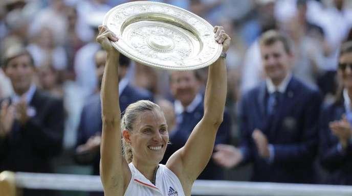 Titelverteidigerin in Wimbledon: Angelique Kerber.