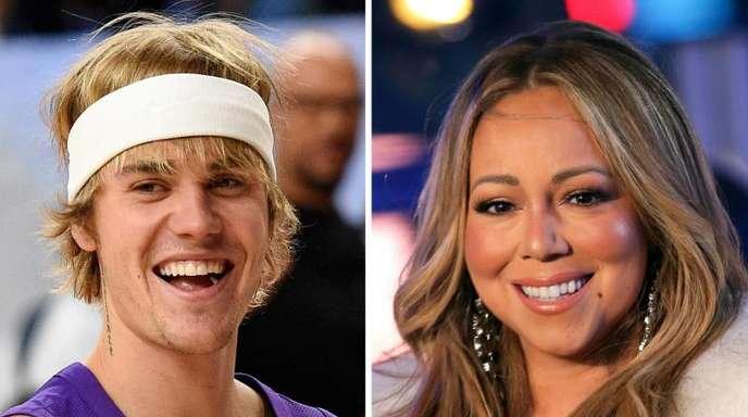 Justin Bieber und Mariah Carey