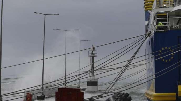 Immer wieder kommt es in Griechenland zu heftigen Stürmen. Das letzte Unwetter gab es bereiuts im September vergangenen Jahres.