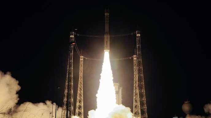 Hier läuft alles nach Plan: Die Aufname zeigt den Start einer Vega-Rakete auf dem europäischen Weltraumbahnhof Kourou im März 2017.