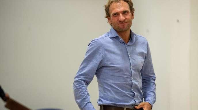 Auf dem Weg zur Verhandlung:Ex-Biathlet Andreas Stitzl.