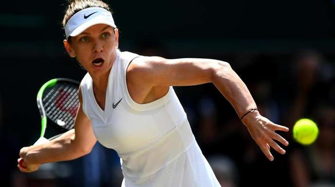 Steht im Finale von Wimbledon: Die Rumänin Simona Halep. Foato:Victoria Jones/PA Wire