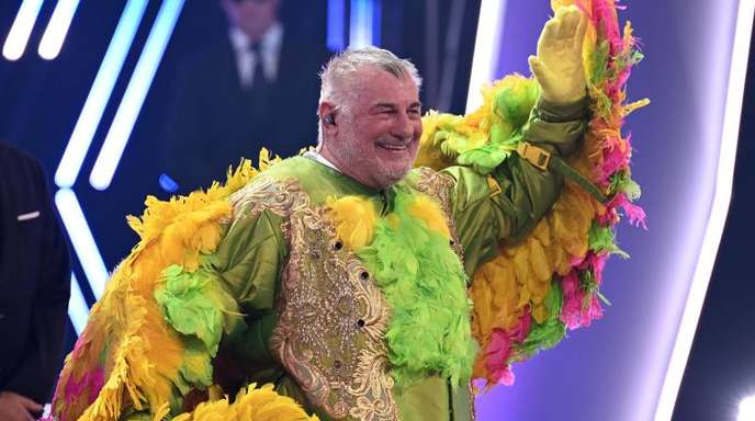 Schauspieler Heinz Hoenig als «Kakadu» in der ProSieben-Show «The Masked Singer».