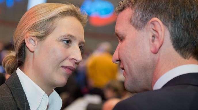Alice Weidel und Björn Höcke bei einem Bundesparteitag der AfD.