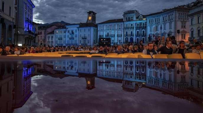 Die Piazza Grande in Locarno.