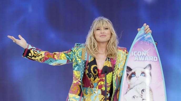 Taylor Swift nahm den Icon Award entgegen.