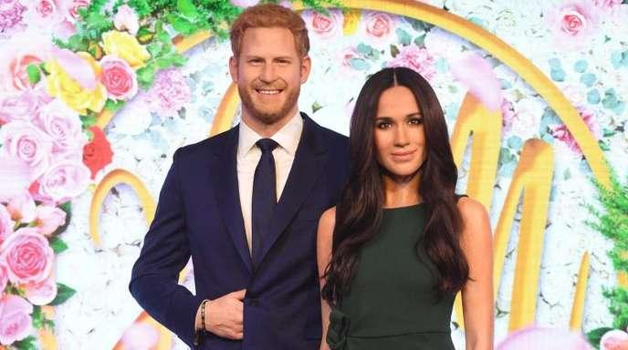 Noch friedlich vereint:Die Wachsfiguren von Prinz Harry und Herzogin Meghan.