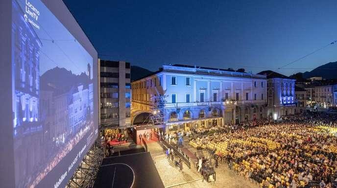 Spektakuläres Kino: Die Piazza Grande in Locarno.
