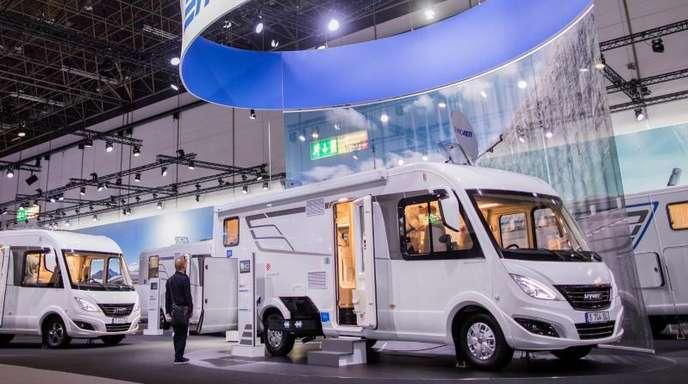 Reisemobile wie diese von von Hymer werden in Deutschland immer beliebter.